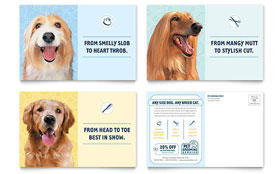 Pet Grooming Service - Postcard Template