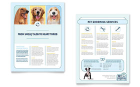 Pet Grooming Service - Sales Sheet Template Design Sample