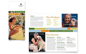 Veterinarian Clinic - Microsoft Word Brochure Template