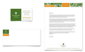 Veterinarian Clinic - Business Card & Letterhead Template