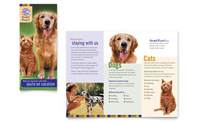 Dog Kennel & Pet Day Care - Tri Fold Brochure Sample Template