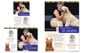 Dog Kennel & Pet Day Care - Flyer & Ad Template Design Sample