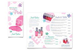 Nail Salon - Apple iWork Pages Brochure Template