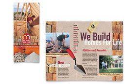 Home Builder & Contractor - CorelDRAW Brochure Template
