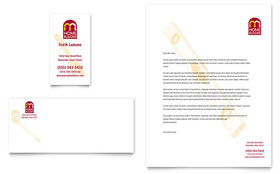 Home Builder & Contractor - Business Card & Letterhead Template Design Sample