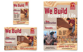 Home Builder & Contractor - Flyer & Ad Template Design Sample