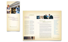Attorney & Legal Services - Brochure Sample Template