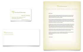 Attorney & Legal Services - Business Card & Letterhead Template Design Sample