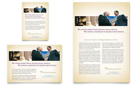 Attorney & Legal Services - Flyer & Ad Template Design Sample
