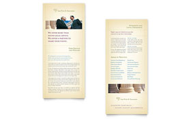 Attorney & Legal Services - Rack Card Sample Template