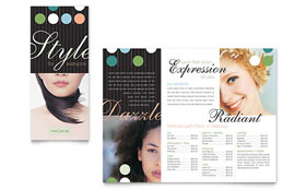 Beauty & Hair Salon - Brochure Template Design Sample