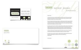 Beauty & Hair Salon - Business Card & Letterhead Template