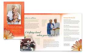 Assisted Living Facility - Brochure Template Design Sample