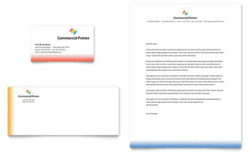 Commercial Printer - Business Card & Letterhead Template Design Sample