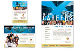 Employment Agency & Jobs Fair - Flyer & Ad Template Design Sample