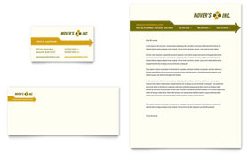 Moving Service - Business Card & Letterhead Template Design Sample
