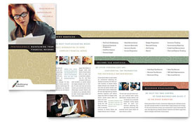 Bookkeeping & Accounting Services - Brochure Template Design Sample