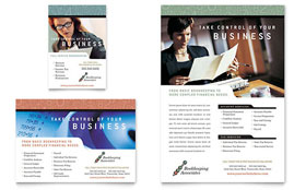Bookkeeping & Accounting Services - Flyer & Ad Template Design Sample