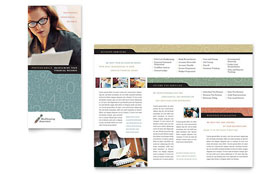 Bookkeeping & Accounting Services - Microsoft Word Tri Fold Brochure Template