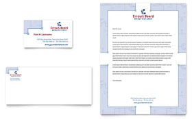 Circuit Board Manufacturer - Business Card & Letterhead Template Design Sample