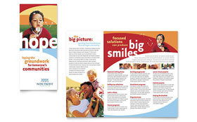 Community Non Profit - Tri Fold Brochure Sample Template