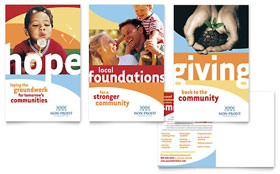 Community Non Profit - Postcard Template Design Sample