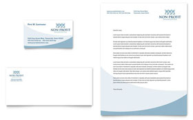 Community Non Profit - Business Card & Letterhead Template Design Sample