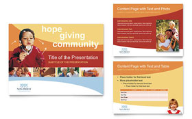 Community Non Profit - PowerPoint Presentation Template Design Sample