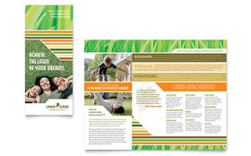 Lawn Care & Mowing - Tri Fold Brochure Sample Template