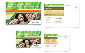 Lawn Care & Mowing - Postcard Template