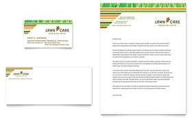 Lawn Care & Mowing - Business Card & Letterhead Template