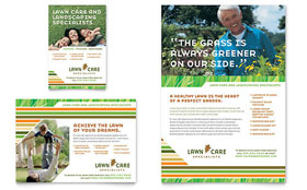 Lawn Care & Mowing - Flyer & Ad Template Design Sample