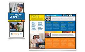 Heating & Air Conditioning - Brochure Template Design Sample