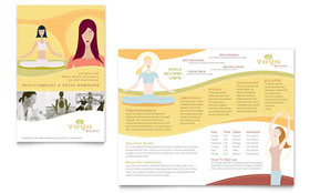 Yoga Instructor & Studio - Microsoft Publisher Brochure Template