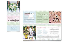 Wedding & Event Planning - Brochure Template Design Sample