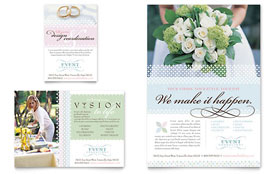 Wedding & Event Planning - Flyer & Ad Template Design Sample