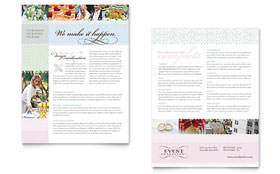 Wedding & Event Planning - Datasheet Template Design Sample