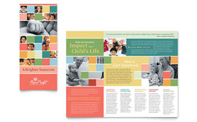 Non Profit Association for Children - Brochure Template Design Sample