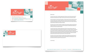 Non Profit Association for Children - Business Card & Letterhead Template Design Sample