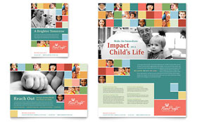 Non Profit Association for Children - Flyer & Ad
