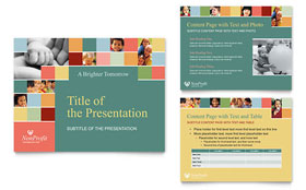 Non Profit Association for Children - PowerPoint Presentation Template Design Sample
