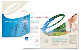 Utility & Energy Company - Brochure Template Design Sample