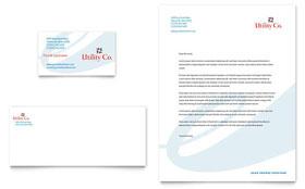 Utility & Energy Company - Business Card & Letterhead Template