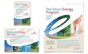 Utility & Energy Company - Flyer & Ad Template Design Sample