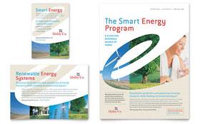 Utility & Energy Company - Print Ad Sample Template