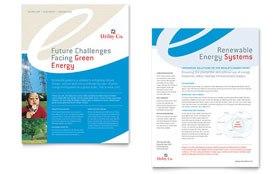 Utility & Energy Company - Datasheet Template Design Sample