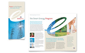 Utility & Energy Company - Apple iWork Pages Tri Fold Brochure Template