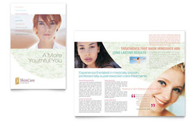 Skin Care Clinic - Brochure Template Design Sample