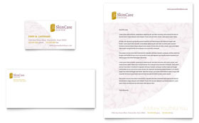 Skin Care Clinic - Business Card & Letterhead Template Design Sample