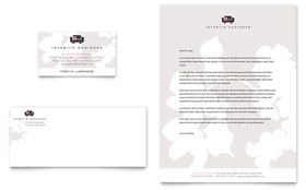 Interior Designer - Business Card & Letterhead Template Design Sample